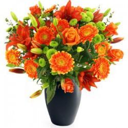 Jarrón tonos naranjas (F112)