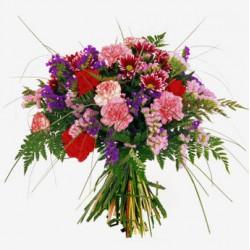 Ramo de flores primaveral rosa (F166)