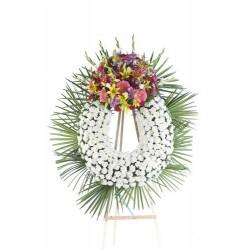 Corona de flores con claveles (CO112)