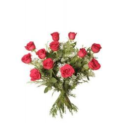 Ramo de rosas rojas de 60cm  (F104)