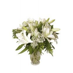 Jarrón de Lilium blanco (F111)