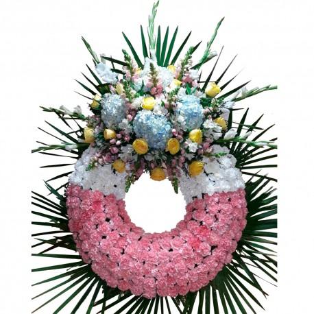 Corona de flores valuable (CO131)