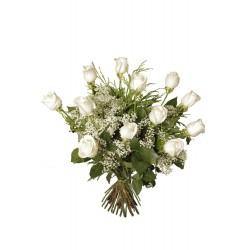 Ramo de rosas blancas (F137)