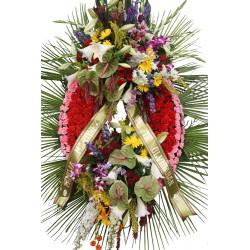 Corona con orquídeas (CO110)