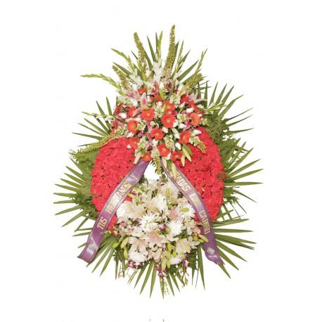 Corona de flores doble cabecero (CO114)